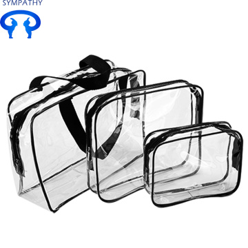 Travel waterproof transparent cosmetic bag