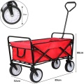 Outdoor Foldable Pull Wagon Festival Trolley