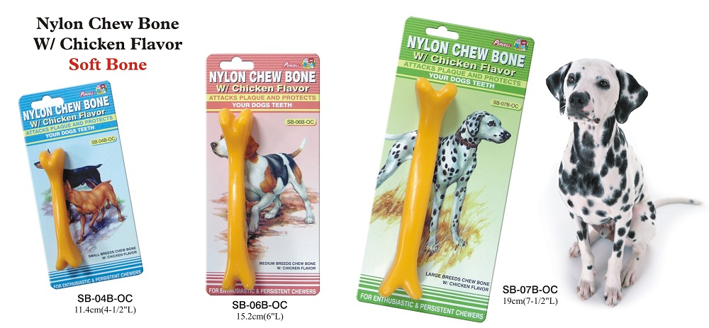 Soft Nylon Chew Bone Toy with Chicken Scent