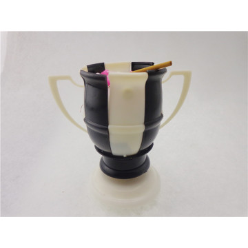 Football Music Flower Candle White &Black