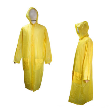 PVC Long Plastic Raincoat For Adult