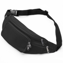 Factory directly provided for Crossbody Bags Lightweight Black Zippered Simple Waist Fanny Bag supply to Macedonia Factory