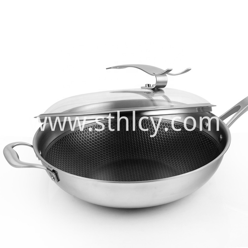 304 Stainless Steel Handle Hot Pans