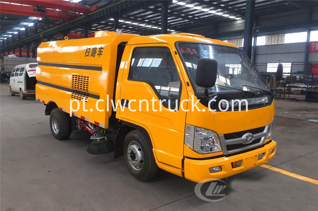 yellow street sweeper truck 1
