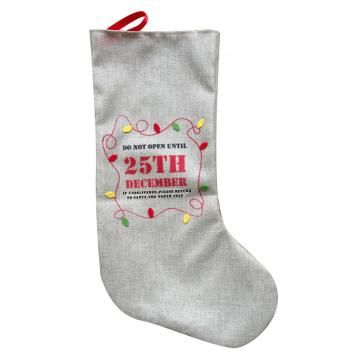 Cheap PriceList for Christmas Stocking Holders 19 inches Christmas burlap stocking export to United States Manufacturers