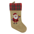 Christmas burlap stocking with scottish style
