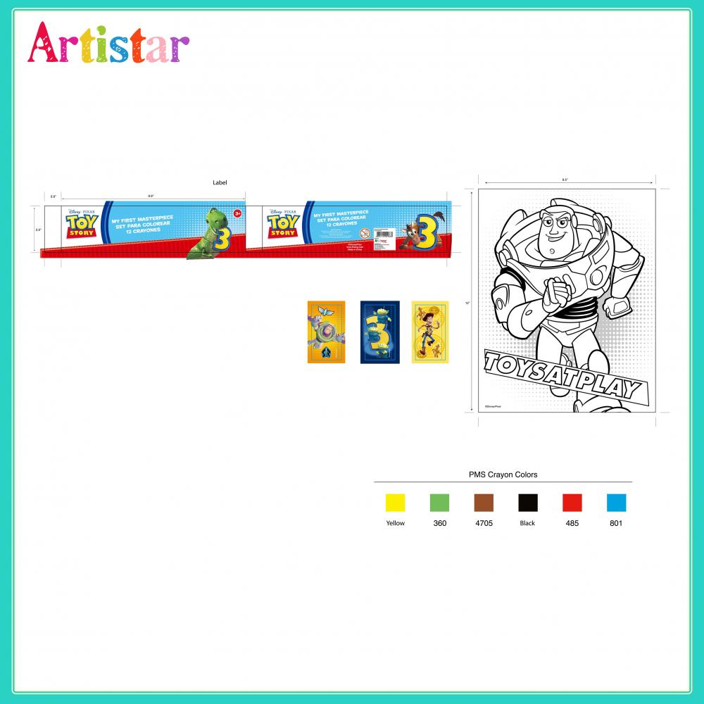 Disney Pixar Toy Story Colouring Set 2