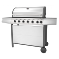Six Burner Outdoor Barbecue Grill With Side Burner