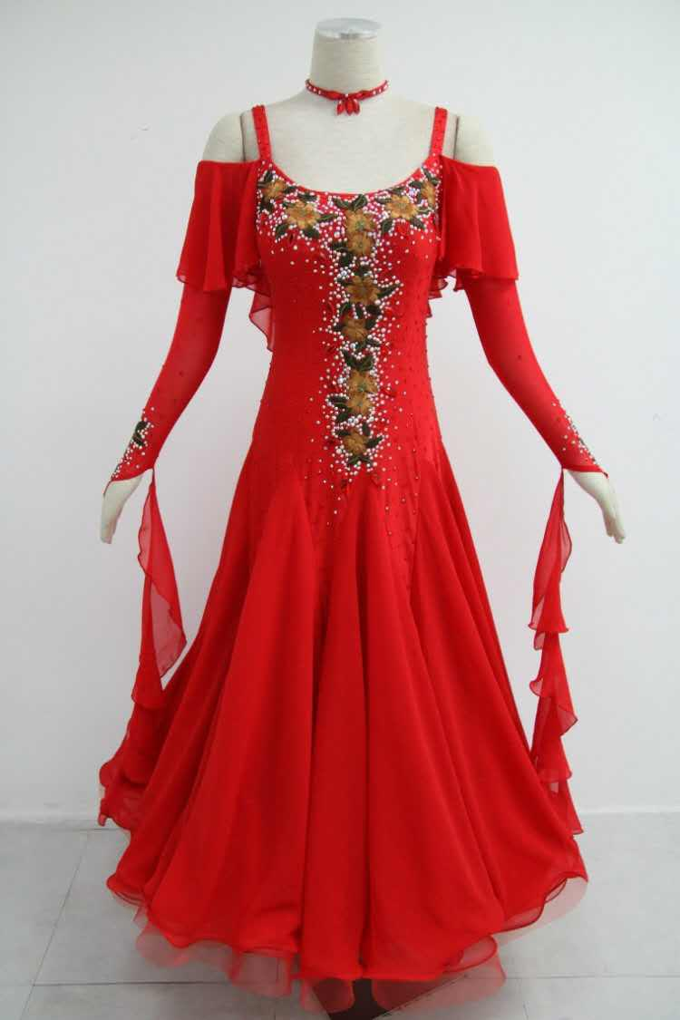 Hand Made Red Ballroom Dresses