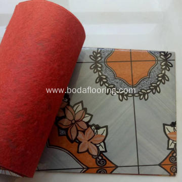 70g Red Felt Backing PVC Flooring