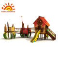 Time Clock Playhouse Combination Outdoor Playground For Kids