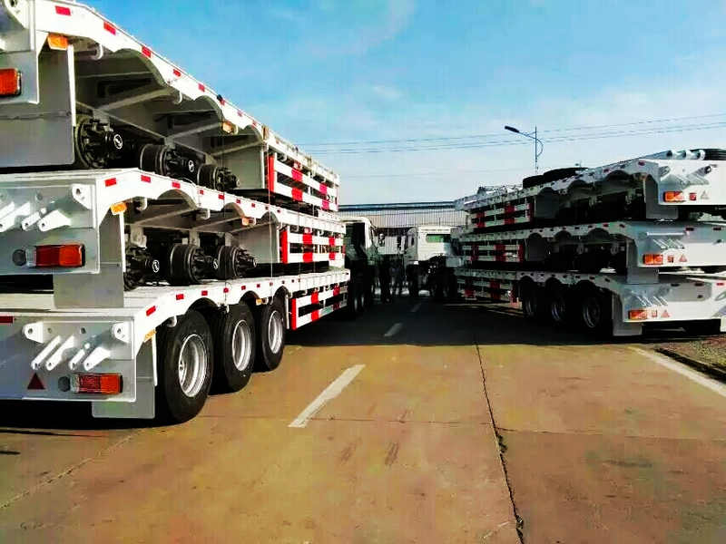 60 Tons 3 Axles Low Boy Trailer