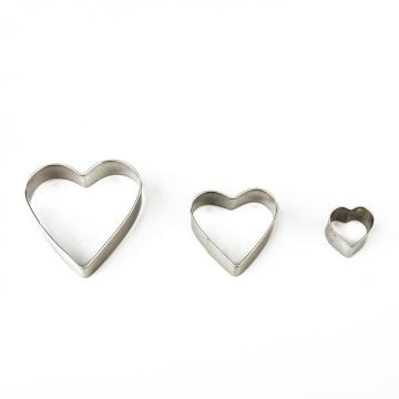 3 pcs heart shape cookie cutter