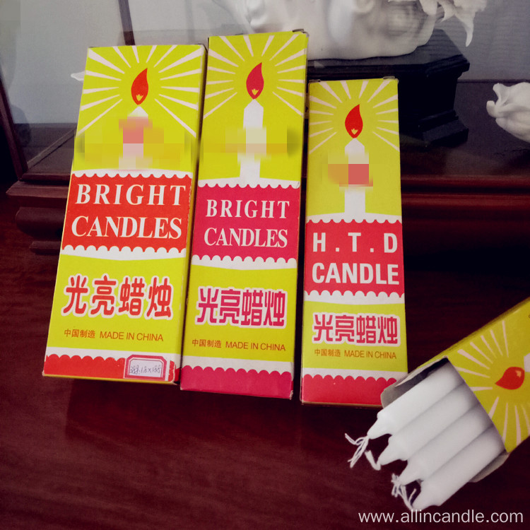 18cm White Candle Hot Sale To Ghana