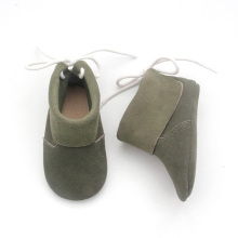 Good Quality for Baby Boots Moccasins Baby Shoes Green Shoelace Leather Shoes supply to Japan Factory