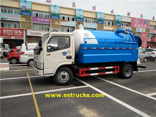 3000L Sewage Suction Tankers