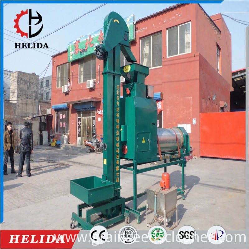 Grain coating machine