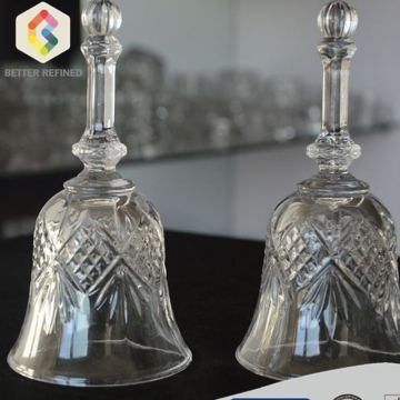 Pattern Decoration Bell Shape Glass Ornament