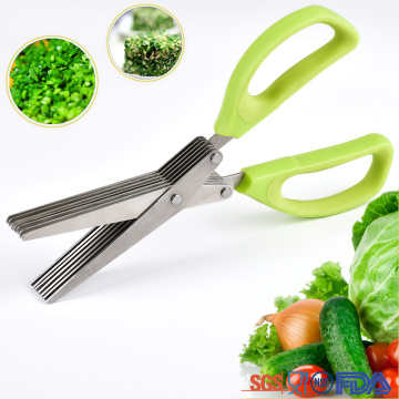 vegetable 5 blades stainless steel herb scissors