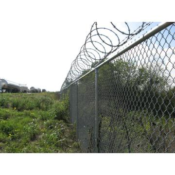 Galvanized Then PVC Coated Chain Link Fence