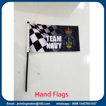 Custom Hand Flags with Plastic Pole