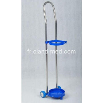 Medic Oxygen Bottle Cylinder Trolley