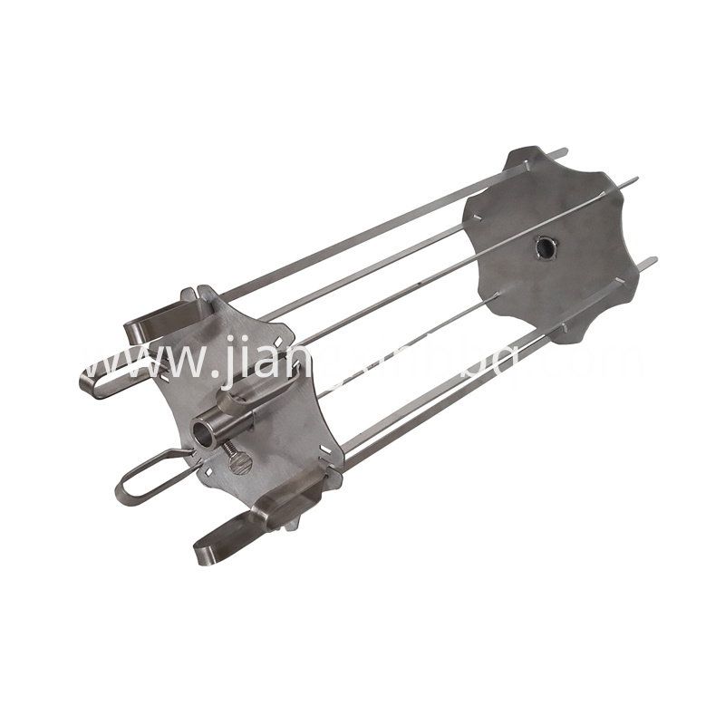 Rotisserie Kebab Skewers In Stainless Steel Side View