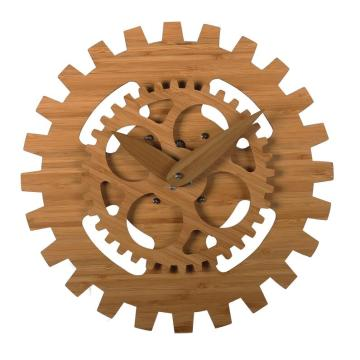 Unique bamboo wall clock with moving dial