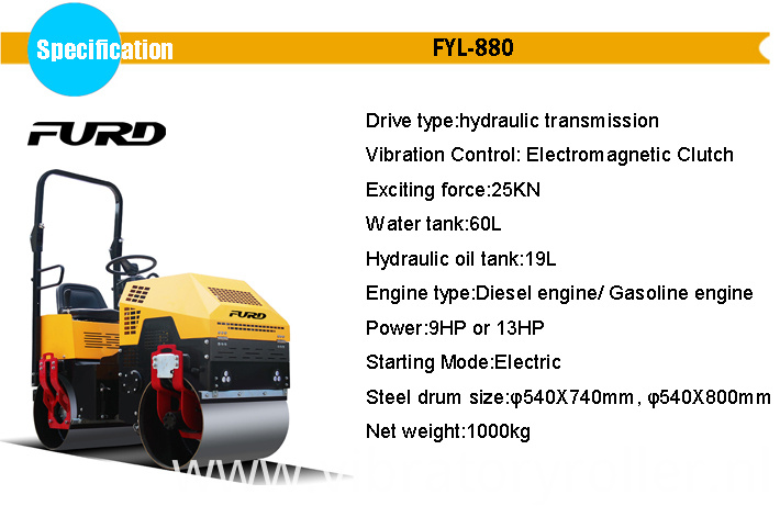 Mini Vibratory Road Roller Machine