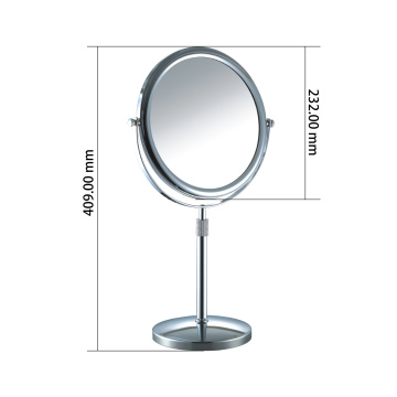 Adjustable vanity standing mirror