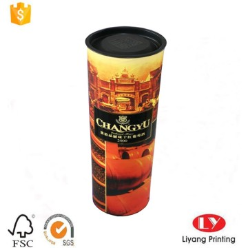 Cylinder cardboard gift box with plastic cap