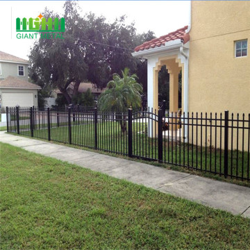 Ornamental iron fence points