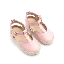 Raffia Wholesale Baby Leather Sandals Girls Dress Shoes