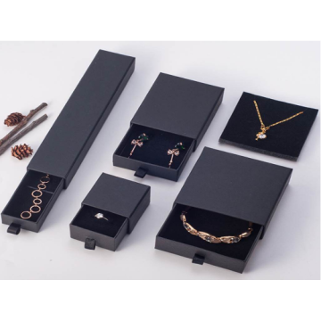 Black Paper Drawer Jewelry Bracelet Rings Gift Box