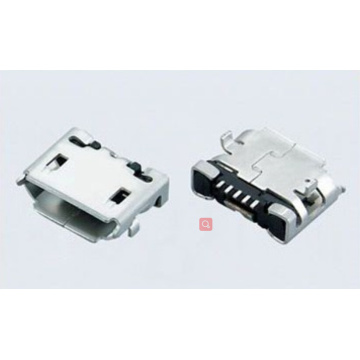 Micro USB 5P Receptacle B TYPE SMT(Shell Dip)