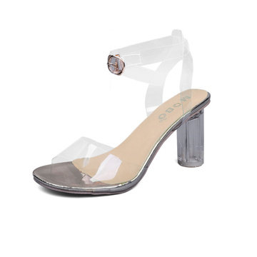 Transparent Open Toe High Heel Sandals