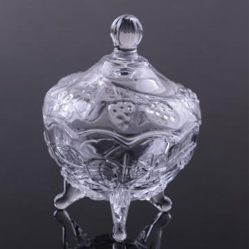 Crystal Glass Candy Jar With Foot Glass Candy Jar Glass Sugar Pot
