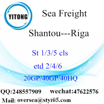 Shantou Port Sea Freight Shipping To Riga