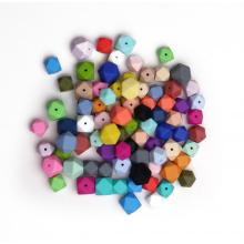 Mini 14mm Bulk Hexagon Silicone Teething Beads