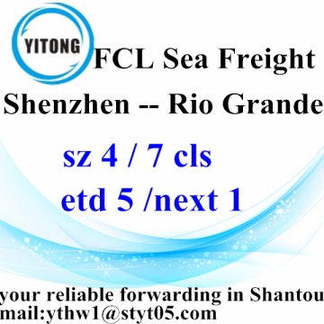 Shenzhen Sea Freight Shipping services to Rio Grande