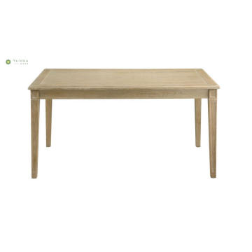Light Full Solid Wood Flat Dining Table