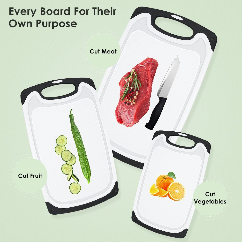 3 Pieces Plastic Cutting Board