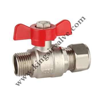 Butterfly brass ball valves