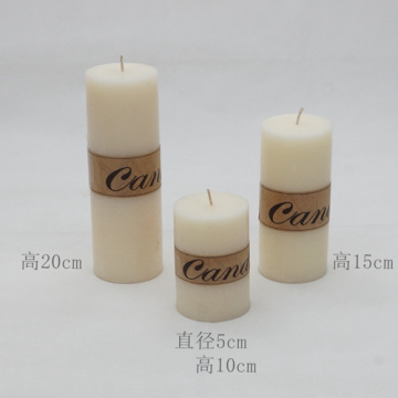 Good quality scented colorful paraffin wax pillar candle