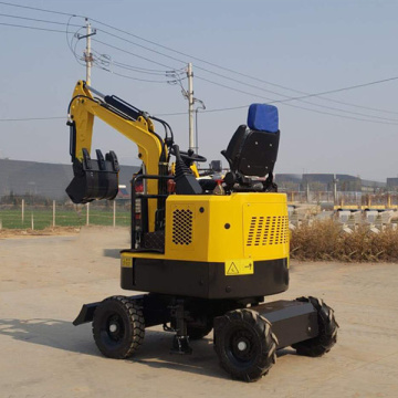 1ton mini wheeled excavator with best price