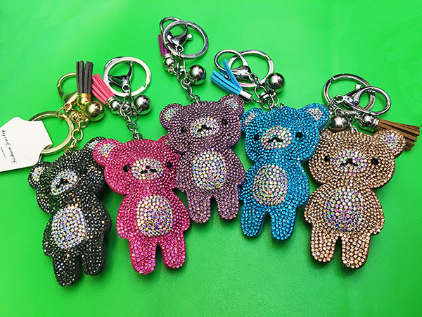 Cartoon Bear Pendant Keychain
