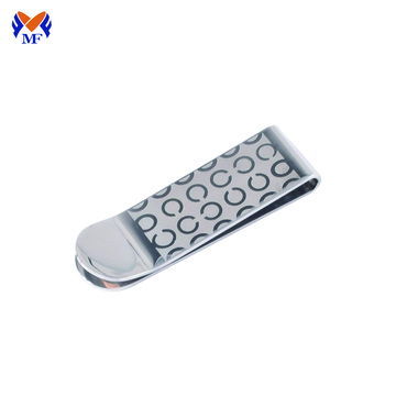 Metal personalized spring slim money clip