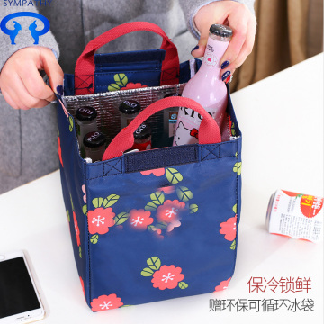 Thickened lunch box bag with cooler bag