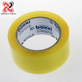 Translucent yellow sticky and noisy sealing tape