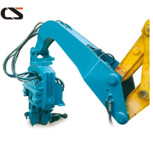 Excavator mounted driver hydraulic drilling hammer